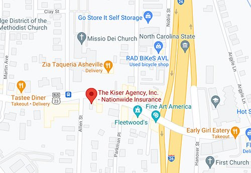 Kiser Insurance on Google Maps